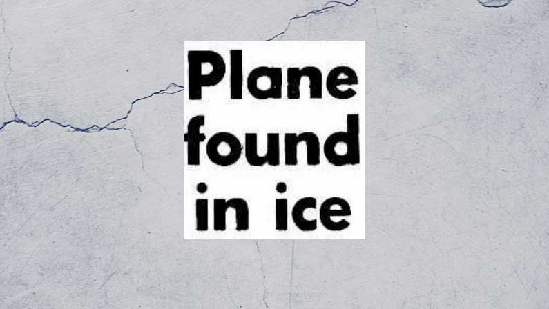 Fixing Antarctica: Plane Crash in Antarctica